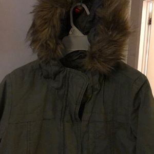 Girls Olive light coat